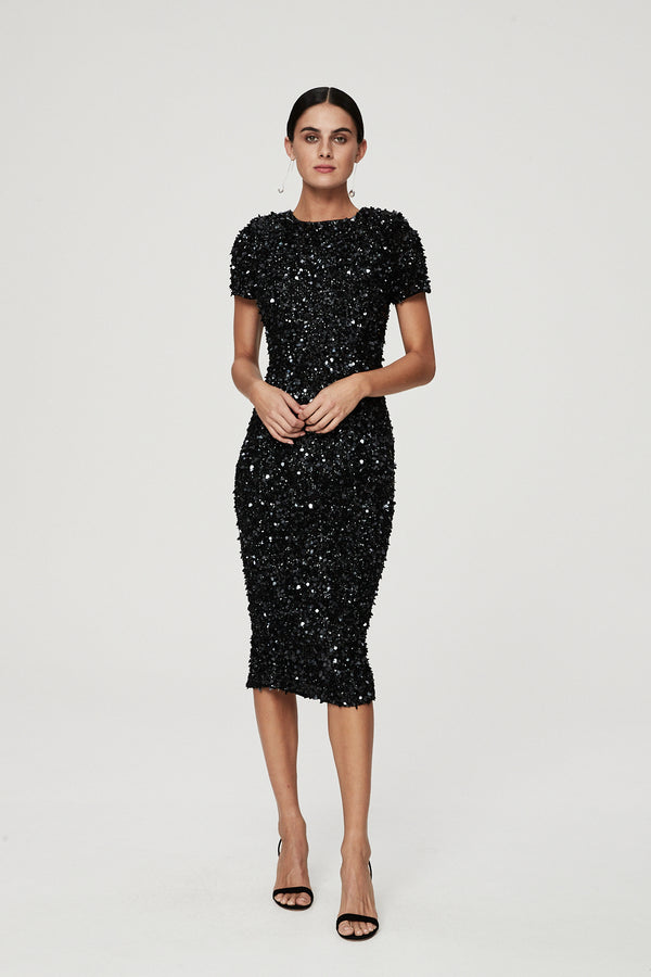 NIXIE DRESS - BLACK-DRESS-Rachel Gilbert