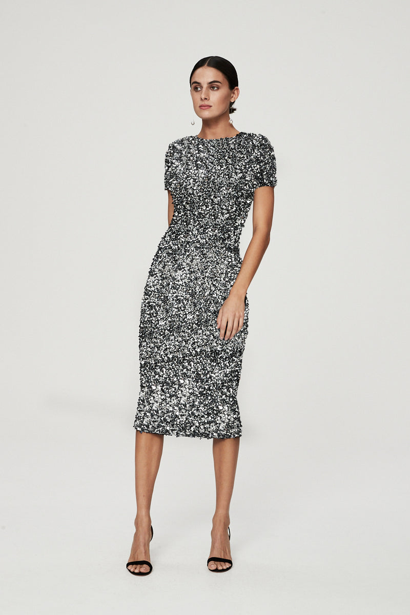 NIXIE DRESS - SILVER-DRESS-Rachel Gilbert