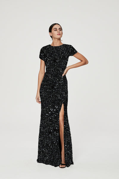 NIXIE GOWN - BLACK