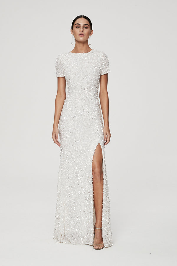 NIXIE GOWN - IVORY-GOWN-Rachel Gilbert