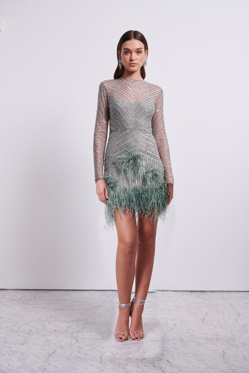 PETUNIA LONG SLEEVE DRESS - FERN-DRESS-Rachel Gilbert