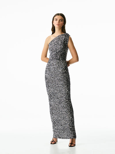 REED GOWN - GUNMETAL