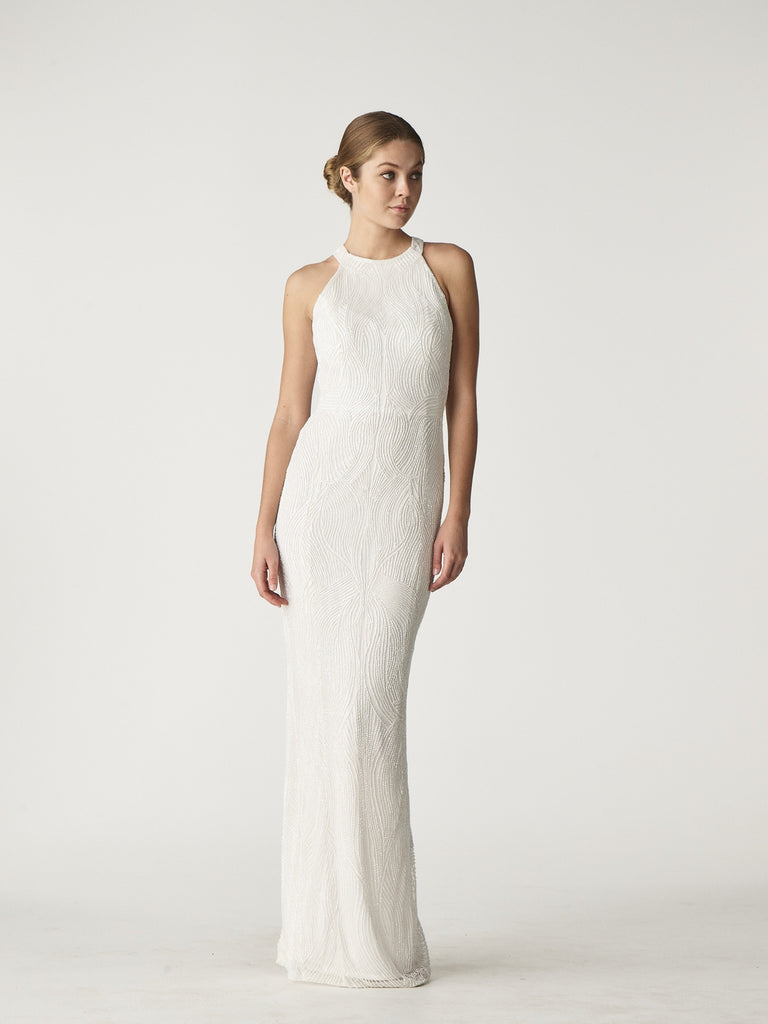 CARRIE GOWN - IVORY-GOWN-Rachel Gilbert