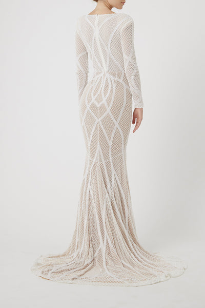 VERONIQUE GOWN - IVORY-BRIDAL-Rachel Gilbert