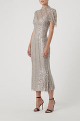 EUGENIE DRESS - SILVER-DRESS-Rachel Gilbert