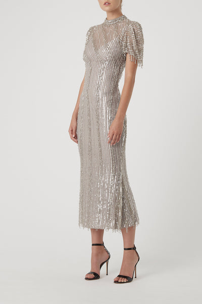 EUGENIE DRESS - SILVER