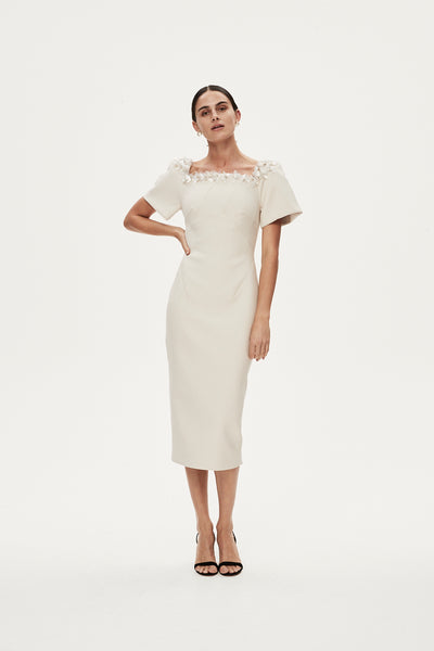SANDRO DRESS - ALMOND