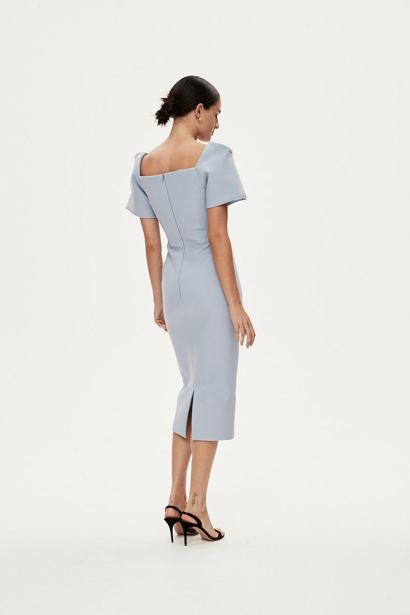 SANDRO DRESS - DUCK EGG BLUE