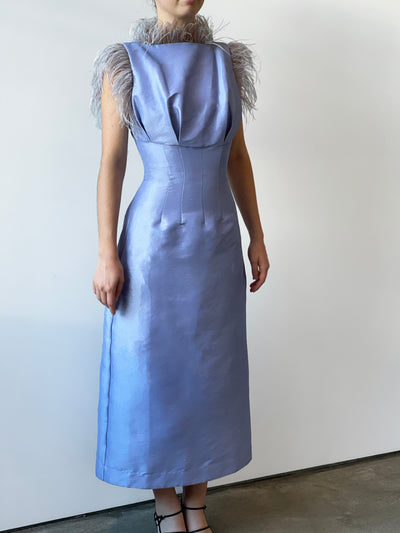 SOLOMON DRESS - DUCK EGG BLUE