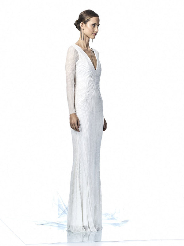 LYLA SLEEVE GOWN - IVORY