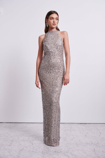 LUCIA GOWN - SILVER