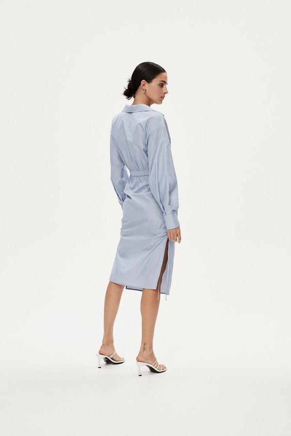 BENEDICT DRESS - DUCK EGG BLUE