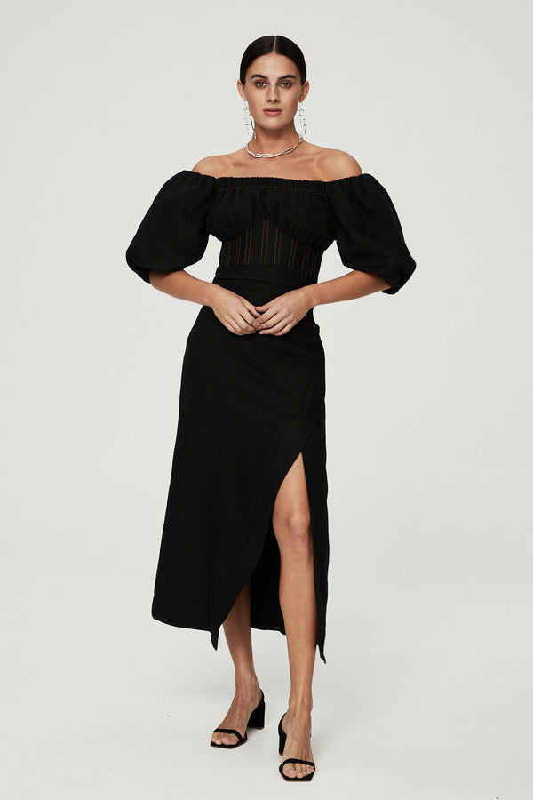 CAPRI DRESS - BLACK-DRESS-Rachel Gilbert ?id=16247033626659