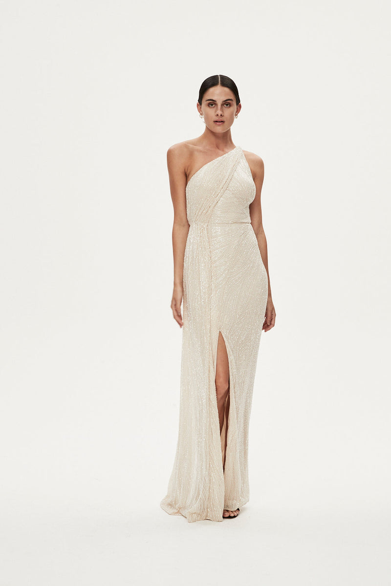 LUCA GOWN - ALMOND