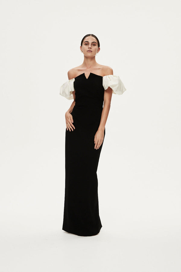 OSCAR GOWN - BLACK
