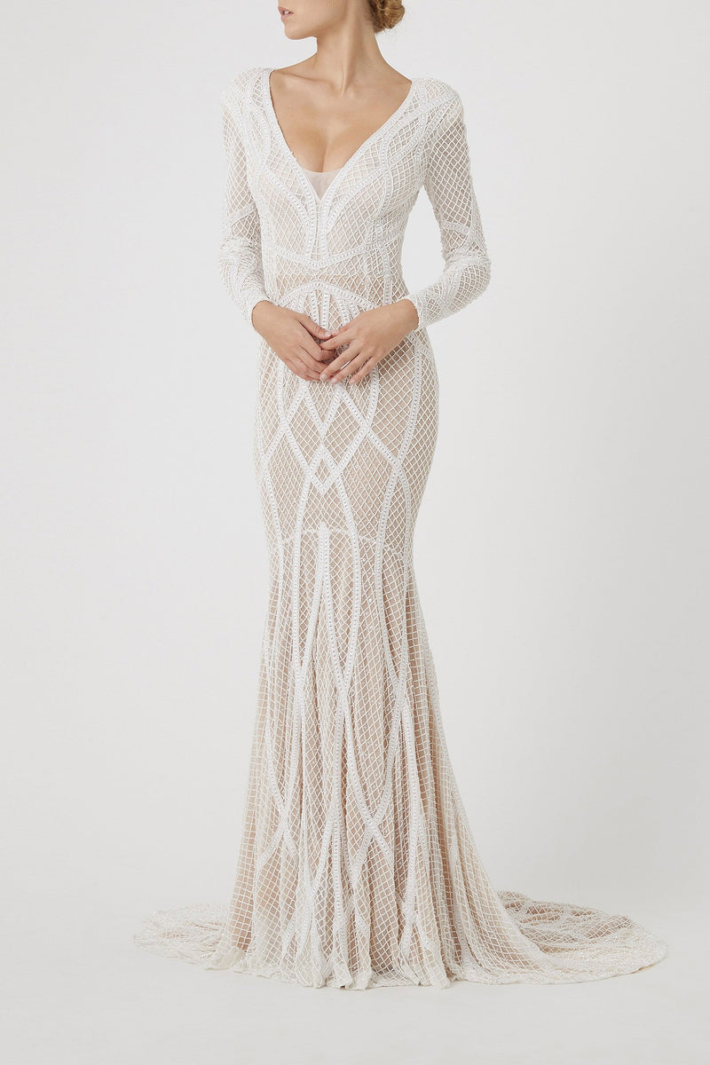 VERONIQUE GOWN - IVORY-BRIDAL-Rachel Gilbert ?id=5544424046627