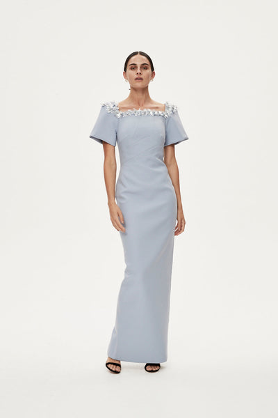 SANDRO GOWN - DUCK EGG BLUE