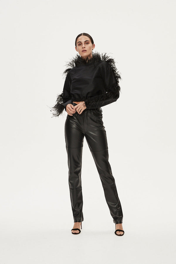 TOM LEATHER PANT - BLACK