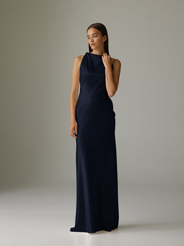TYLER GOWN - NAVY
