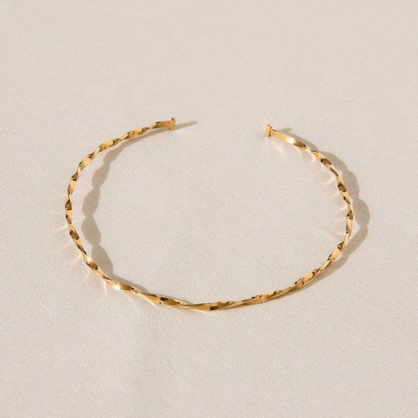 Twisted Choker - Gold - Small/Medium