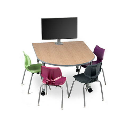 Interchange Round End Multi Media Table