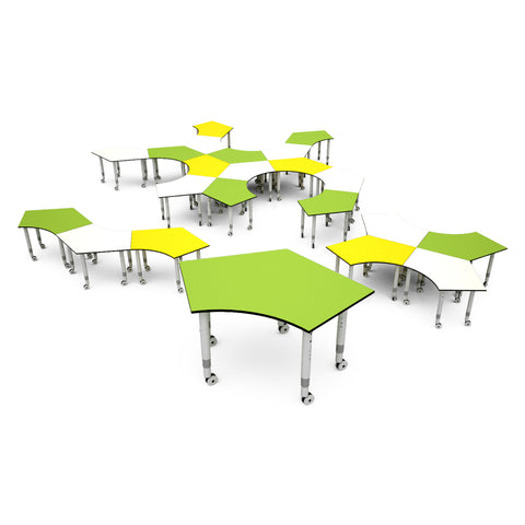 Podz Kinetic Height Adjustable Penta Table