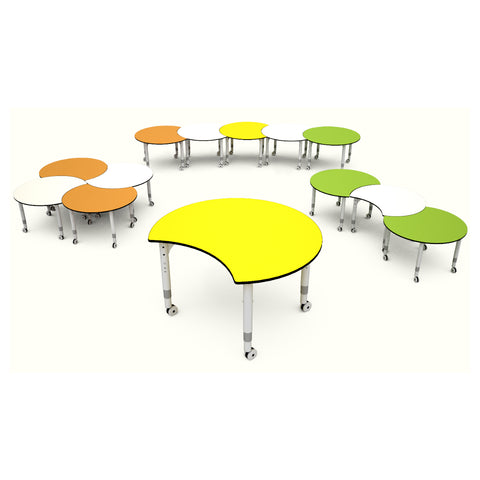 Podz Kinetic Height Adjustable Crescent Table (In Stock)