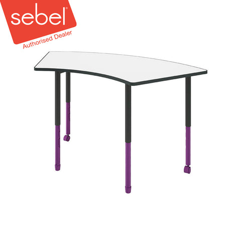 Sebel Twist'n'Lock Crescent Table