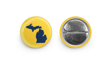 Michigan Yellow & Blue Button