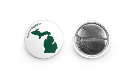Michigan White & Green Button