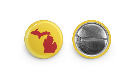Michigan Yellow and Red Button