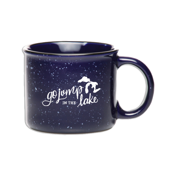 Go Jump in the Lake (Michigan) Campfire Mug Candle