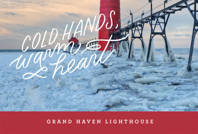 Cold Hands Warm Hearts Lighthouse Postcard