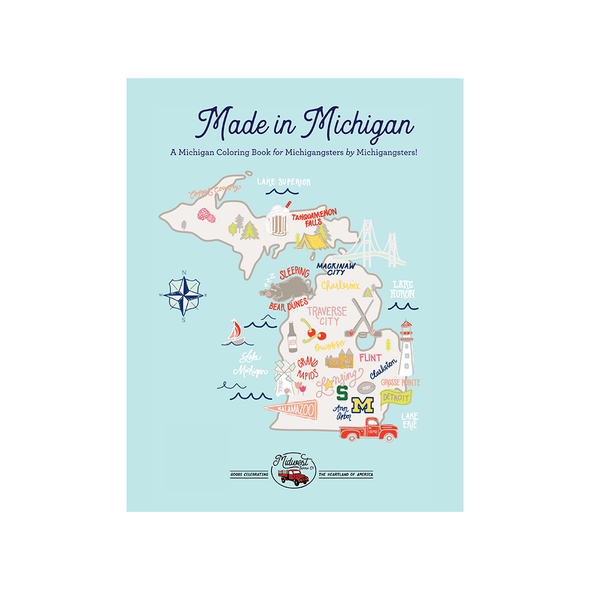 Made In Michigan Coloring Book