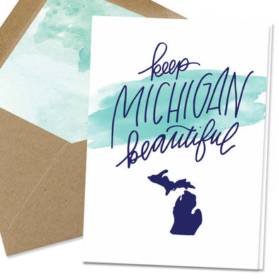 Keep Michigan Beautiful Note Card