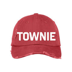 Red & White Distressed TOWNIE Hat