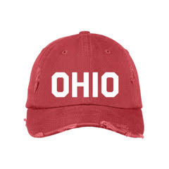 Red & White Ohio Hat