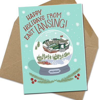 East Lansing Snowglobe Note Card