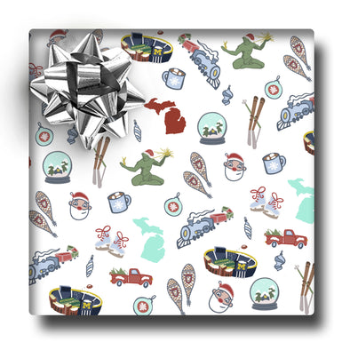 Winter in the Mitten Icons Gift Wrap