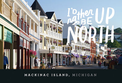Mackinac Island Up North Postcard