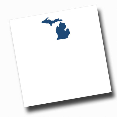 Navy Michigan Slab Notepad