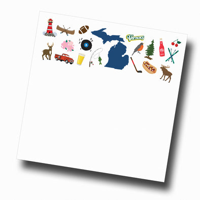 Michigan Icon Slab Notepad