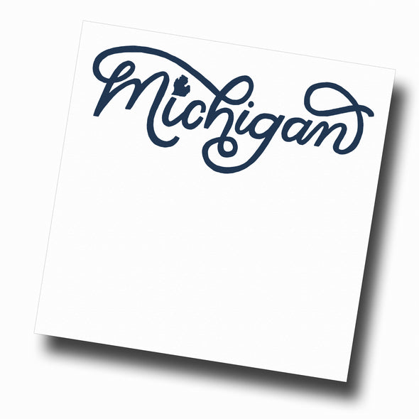 Michigan Script Slab Notepad