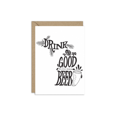 Drink Good Michigan Beer Card