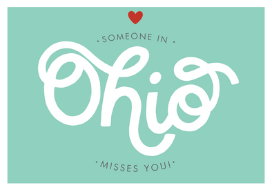 Someone in Ohio Misses You Postcard