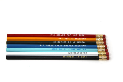 Assorted Michigan Sayings Pencils S/7