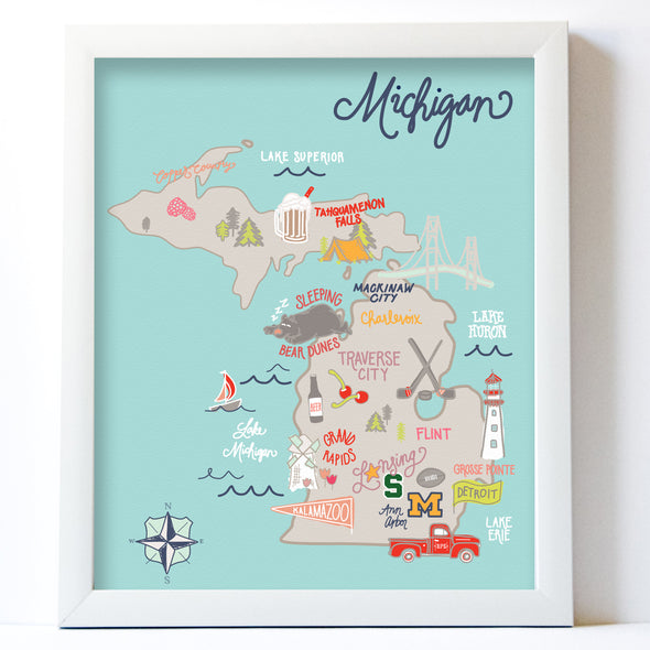 Bright Michigan Map