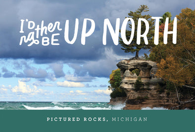 Pictured Rocks Up North Postcard