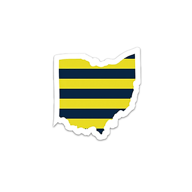 "Sports Collection Die Cut Ohio 4"" Sticker"