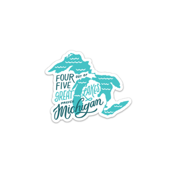 4 out of 5 Great Lakes Prefer Michigan Sticker